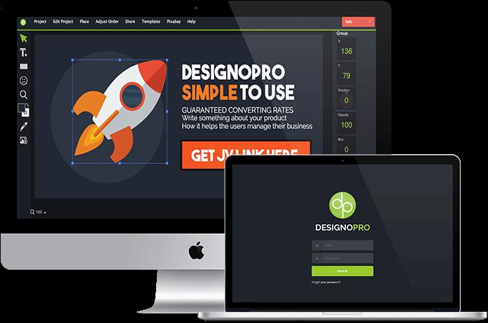 1-Click Cloud-based Graphics Design App